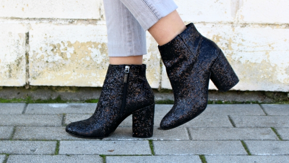 glitter ankle boots purpurina botines fashionblogger trends
